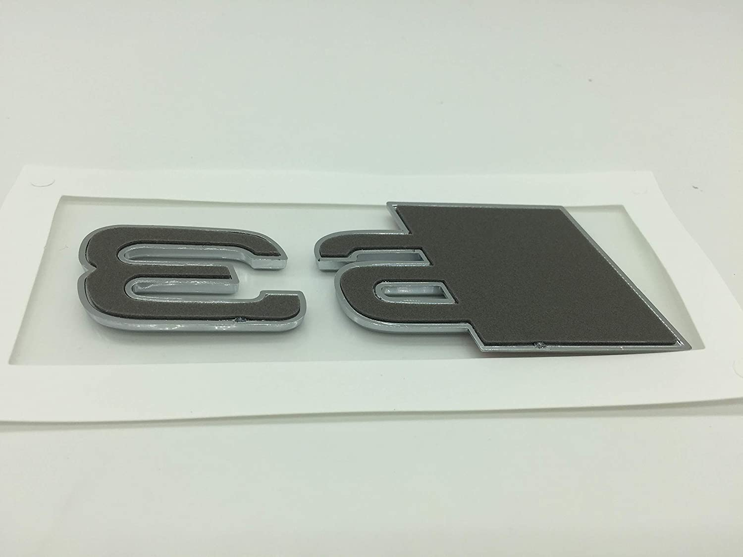 S6 OEM ABS Nameplate compatible for Audi S 3 4 5 6 7 8 s3 S4 s5 s6 s7 s8 Chrome Silver Emblem 3D Trunk Logo Badge Compact
