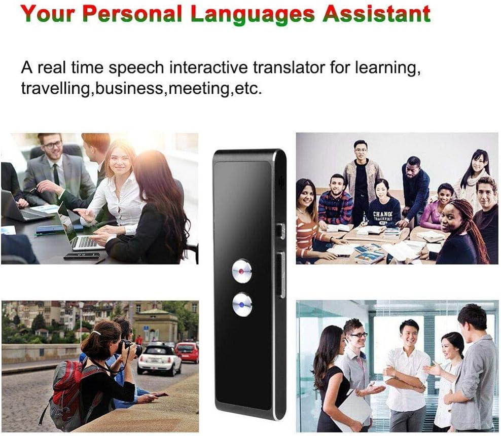 Black ZOOARTS Translaty MUAMA Enence Smart Instant Real Time Voice Languages Translator