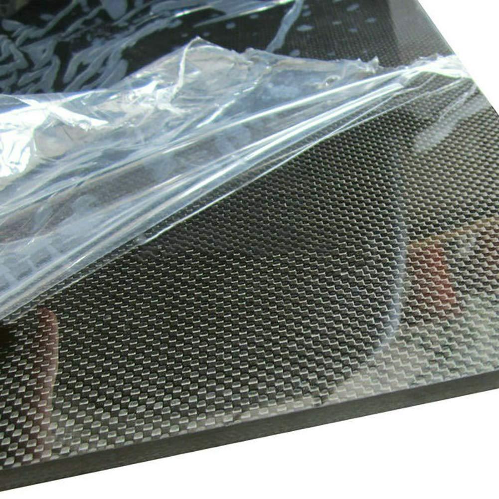 SOFIALXC Plaque en Fibre de Carbone 3K 100/% stratifi/é 0.5m Panneau tiss/é, Surface Lisse pour pi/èces usin/ées de Drone 250x600mm etc