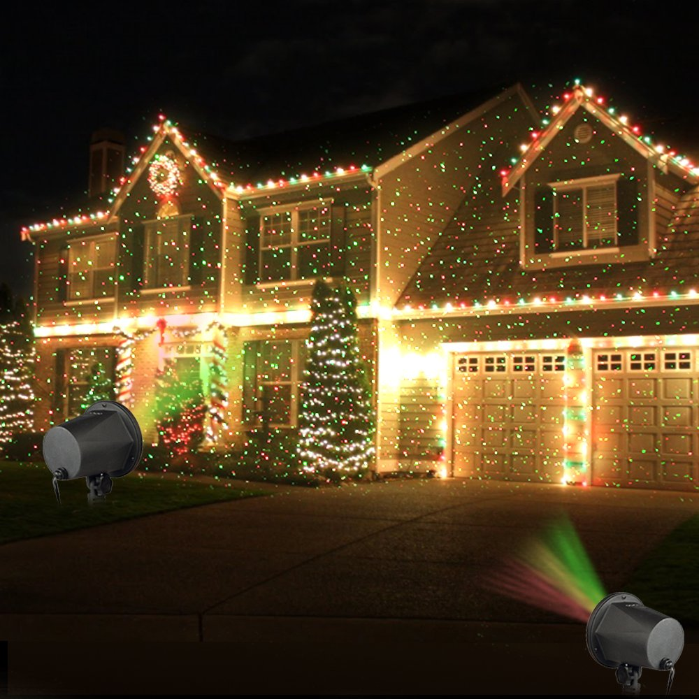 Laser Christmas Lights, InnooLight Outdoor Christmas Laser Lights ...