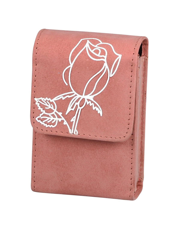 Packungsetui Zigarettenetui Damen rosé Rose Blume für normale Packungen und 100 mm Rose-Set10