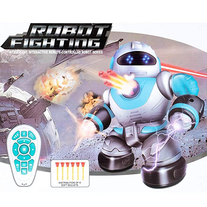 HALO NATION® Intelligent Fighting Robot with Remote Control for Kids - Infrared Remote Control Light, Singing, RC Dancing Robot Toy