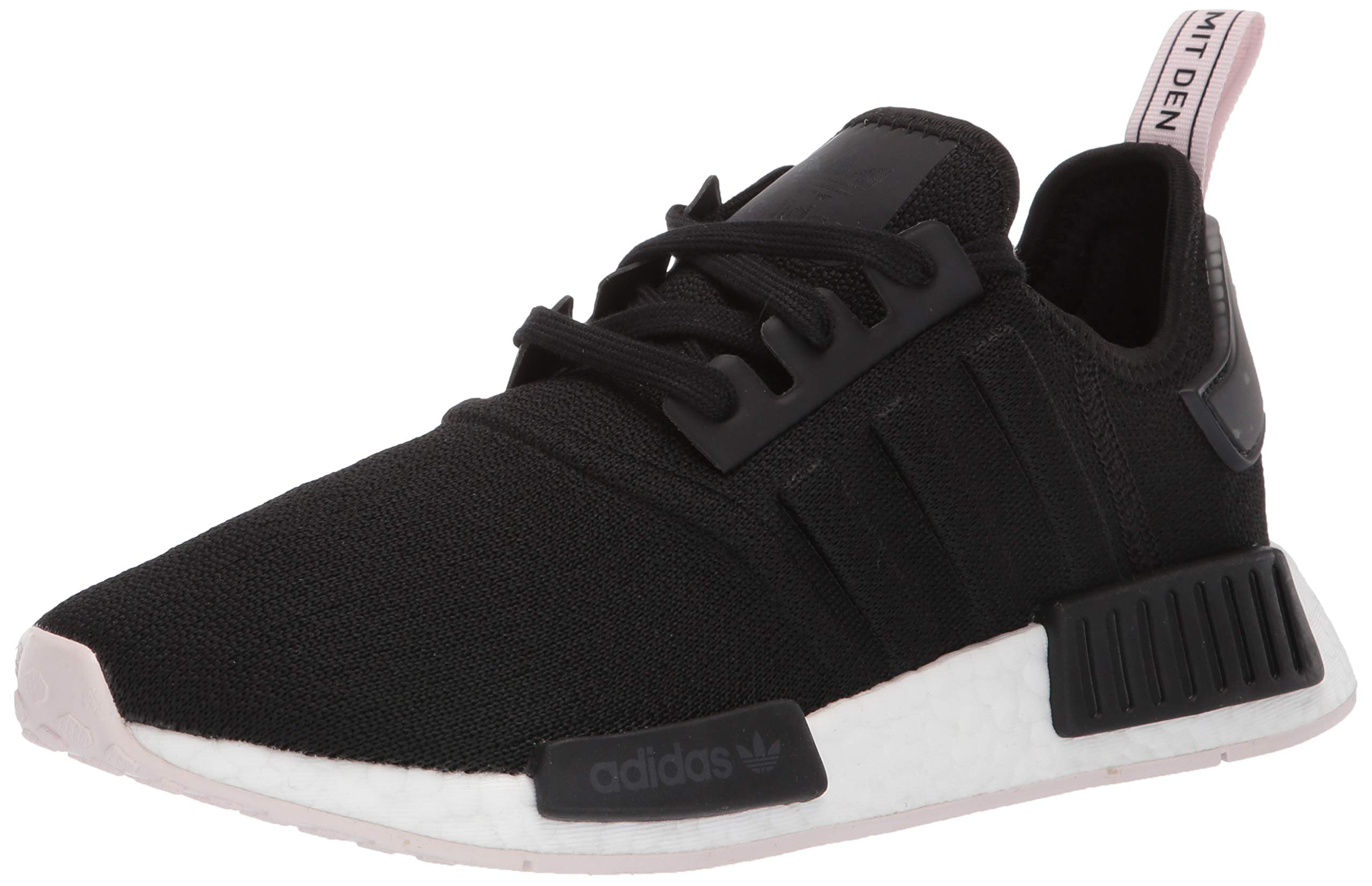 adidas Originals Women's NMD_R1 Running Shoe Black/Orchid Tint, 5 M US