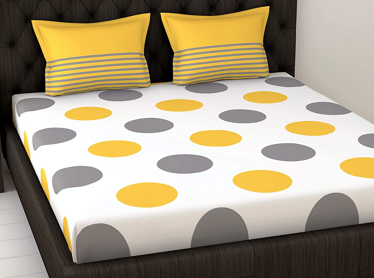 Loreto, 144 TC 100% Cotton Double Bedsheet