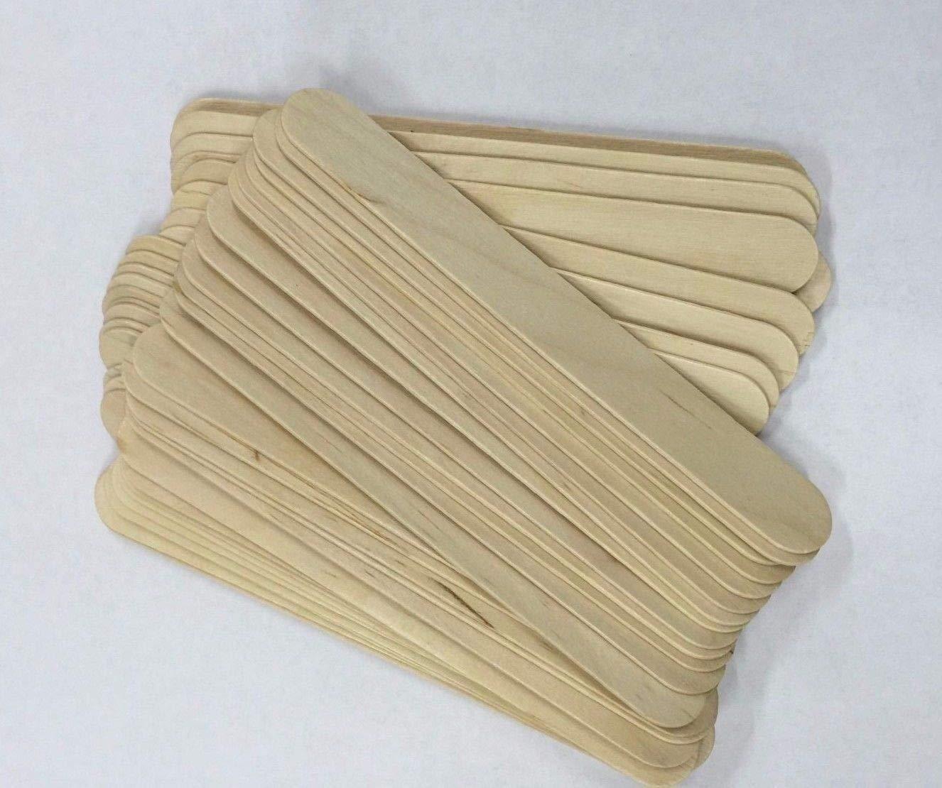 *Beauticom USA Base* BULK LARGE Wide Wood Wax Spatula Applicator 6'' x 3/4'' (10,000 pieces)