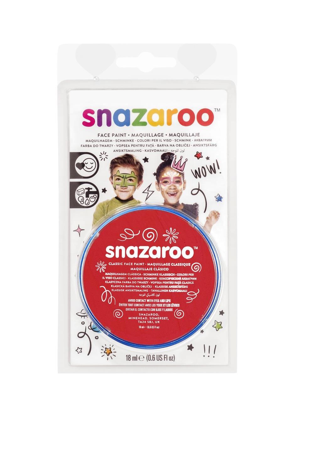 Snazaroo 顔塗料 18 ml 明るい赤   B004QNV50G