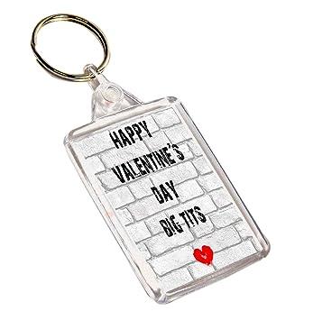 Feliz día de San Valentín llavero Big tetas - divertido ...