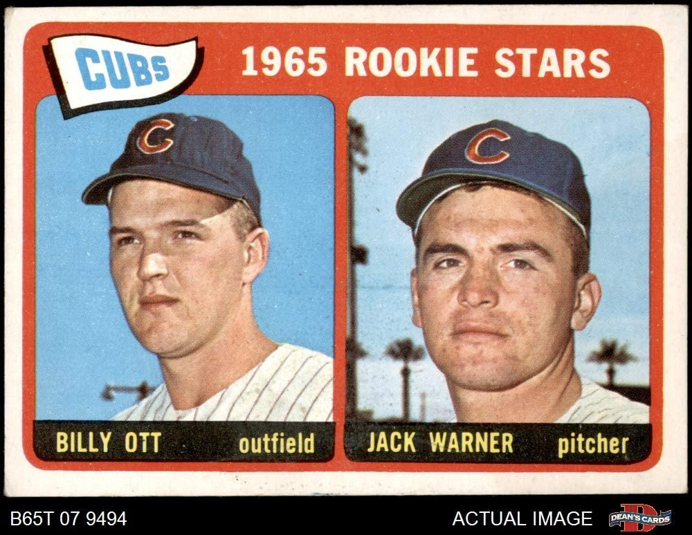 1965 Topps # 354 Cubs Rookies Billy Ott/Jack Warner Chicago Cubs (Baseball Card) Dean'S Cards 3.5 - Vg+ Cubs