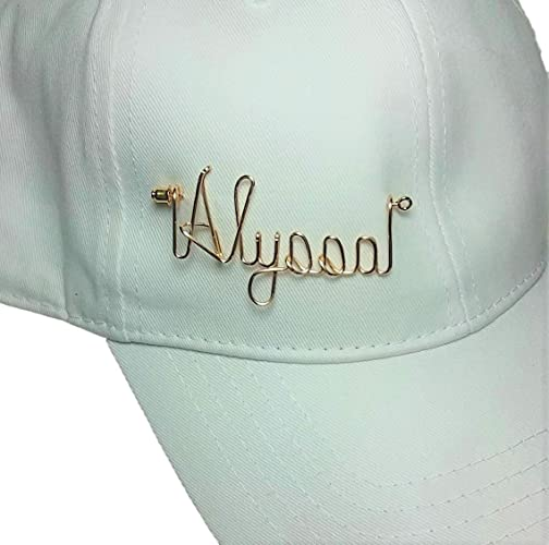 e6071597a04 Amazon.com  Golf Hat Visor Cap Name Pin Gold or Silver - Sports Pin ...