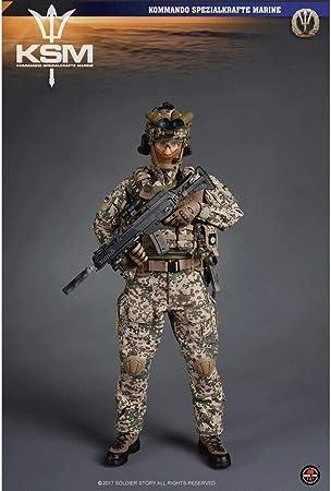 MMZ Ejército Militar Figura 1/6 Escala de Acción, 12 Pulgadas de Fuerzas Especiales Marina Alemana KSM VBSS Flexible Masculino Soldado Modelo Colección: Amazon.es: Juguetes y juegos