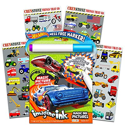 Hot Wheels Imagine Ink Coloring Book Set for Kids Toddlers ...