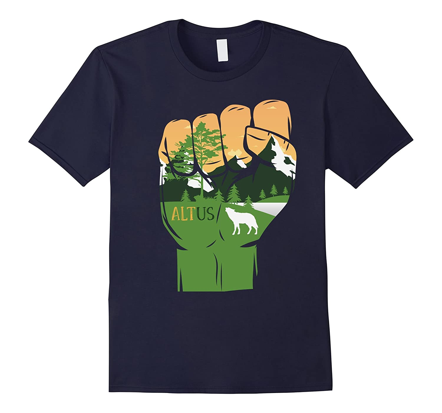 Alt National Park Service T-Shirt Resist Alternative Facts-Vaci