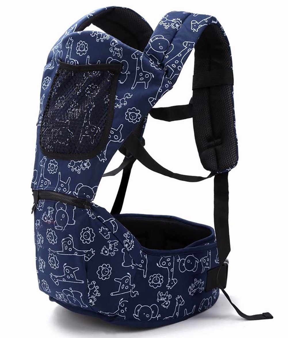 Baby Carriers for Waist 27 inches to 40 inches Ergonomic Baby Backpacks with Hip Seat for All Seasons,Infant & Toddlers, Adjustable Waist (for 70 cm to 110 cm use)