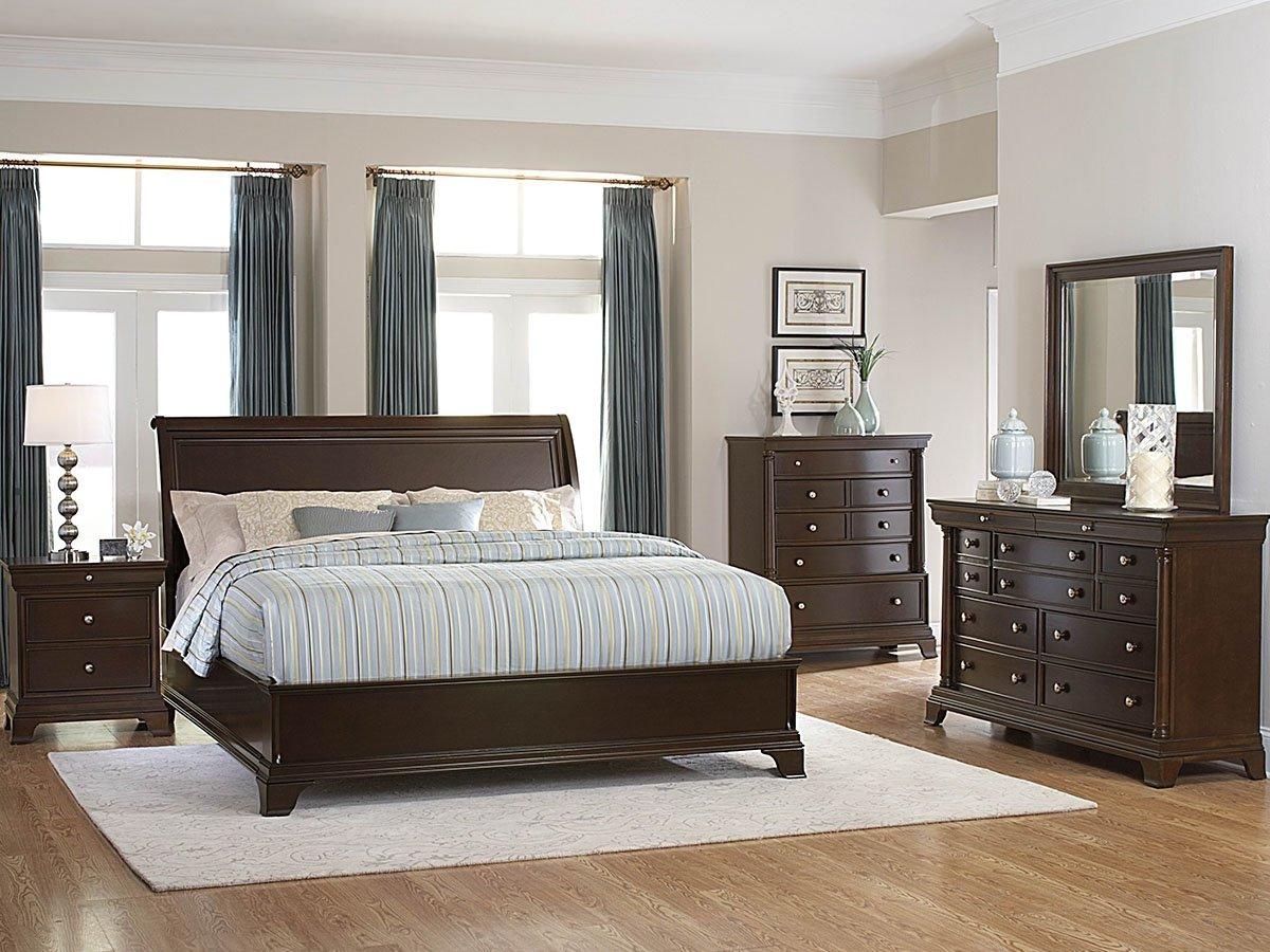 Amazon.com: Inglewood Queen Panel Bed by Homelegance in Espresso ...