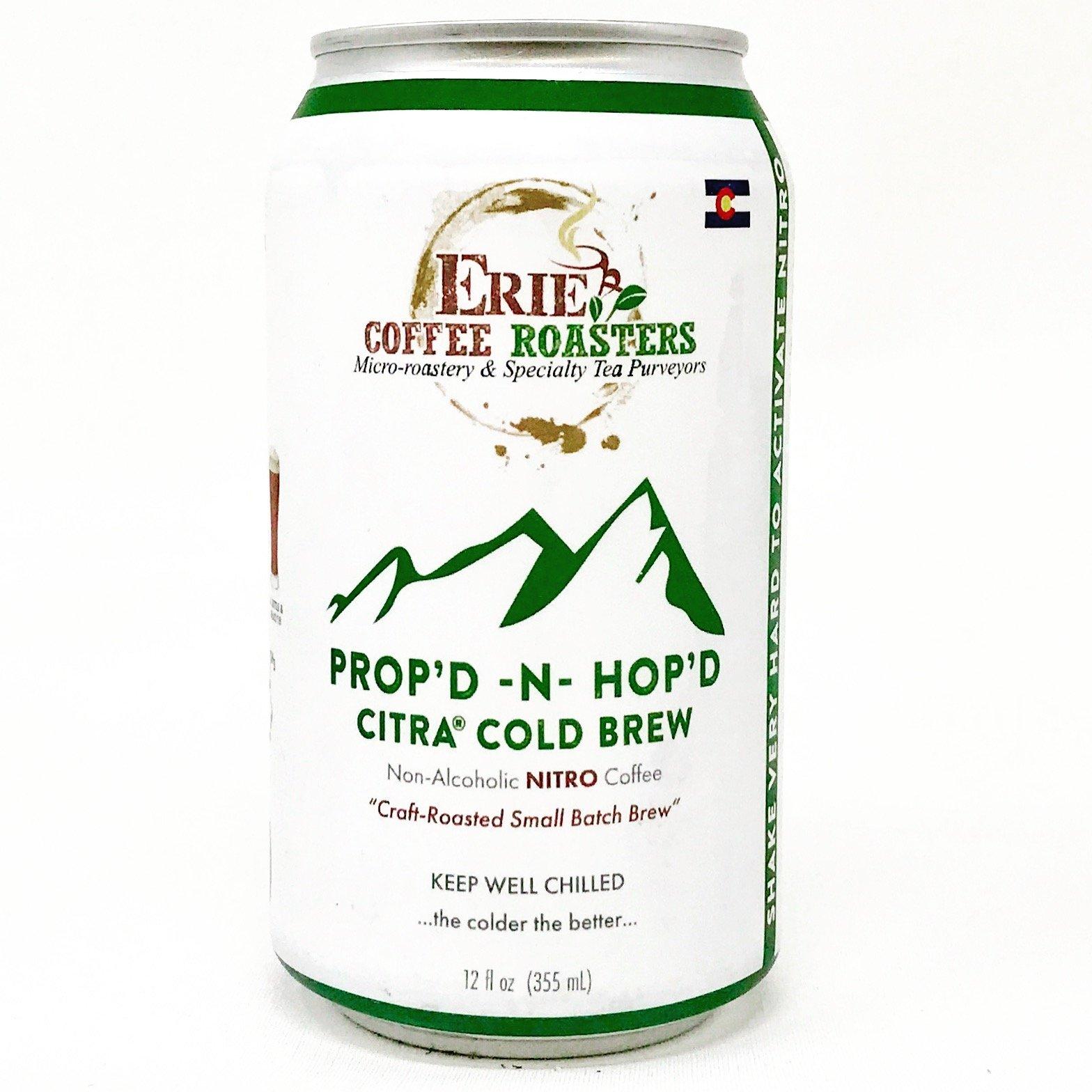 Prop'd-N-Hop'd 4-Pack 12oz Cans, Nitro Citra-Hopped Cold Brew