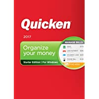 Quicken Starter Edition 2017 Personal Finance & Budgeting Software