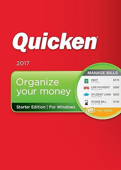 amazon com quicken starter edition 2017 personal finance