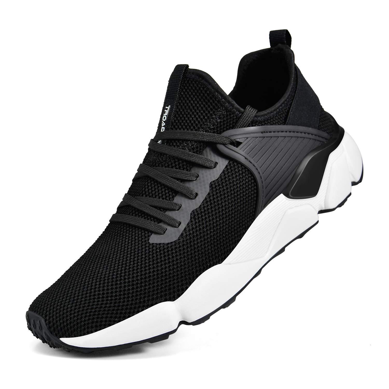 b950b83bd71 Troadlop Men's Sneakers Slip On Breathable Mesh Walking Gym Running Shoes
