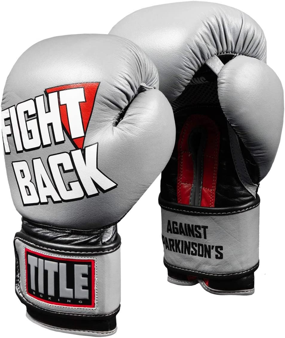 Title Boxing Boss Black Leather Bag Gloves