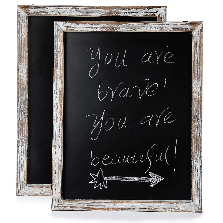 Chalkboard - Chalkboard Sign-Vintage Framed Chalkboard-Vintage Decor for Rustic Wedding Signs, Kitchen Pantry & Wall Decor (2, 15 X 19)