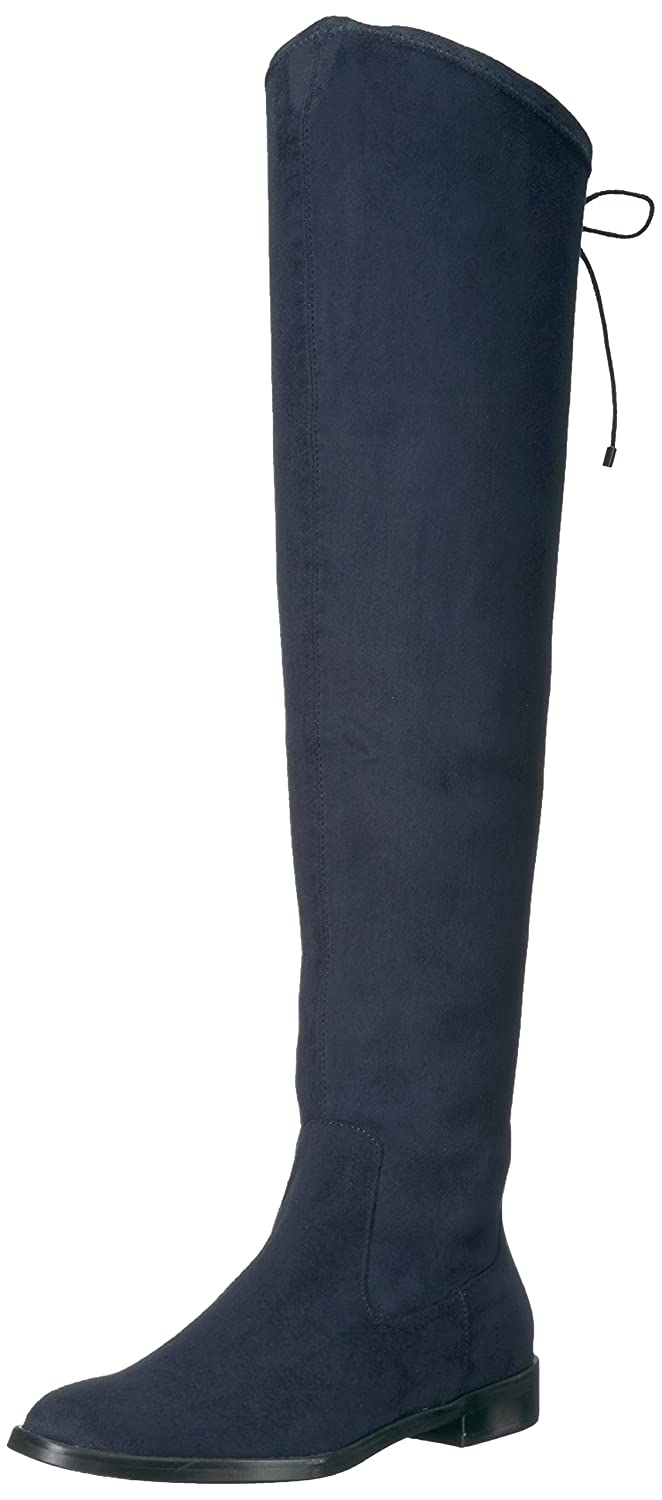Kenneth Cole REACTION Women's Wind Chime Over The Knee Stretch Low Heel Winter Boot B071D8V4Q8 6.5 B(M) US|Navy