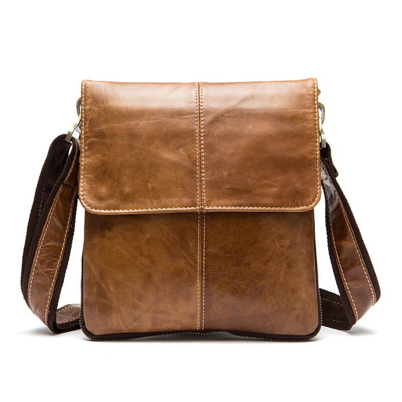 d507e7e1b922 Amazon.com  Genuine Leather Men Bag Fashion Leather Crossbody Bag Shoulder  Men Messenger Bags Designer Handbags Man Bags  Shoes