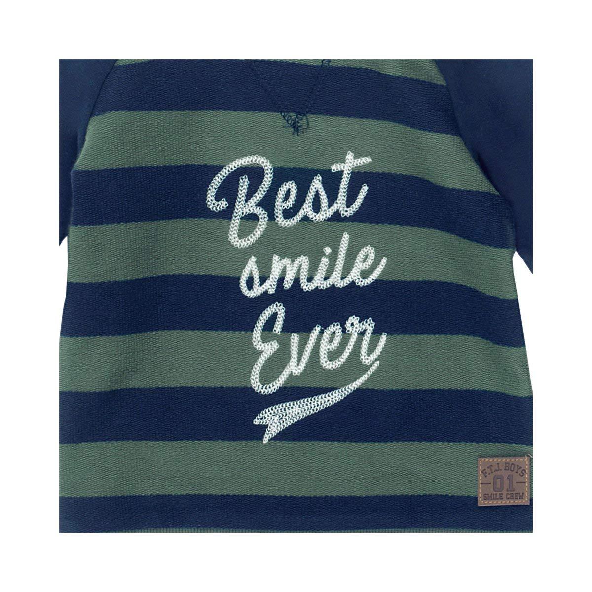 Raglan-Sweatshirt Blockstreifen Best smile