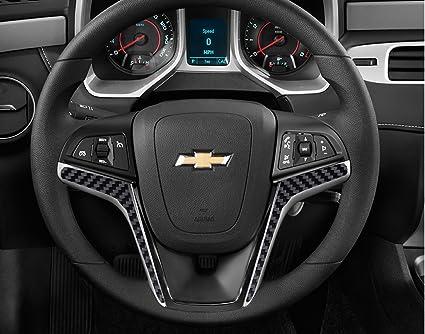 Amazon 2012 2015 camaro carbon fiber steering wheel accent 2012 2015 camaro carbon fiber steering wheel accent decal cove chevy wrap skin do it solutioingenieria Image collections