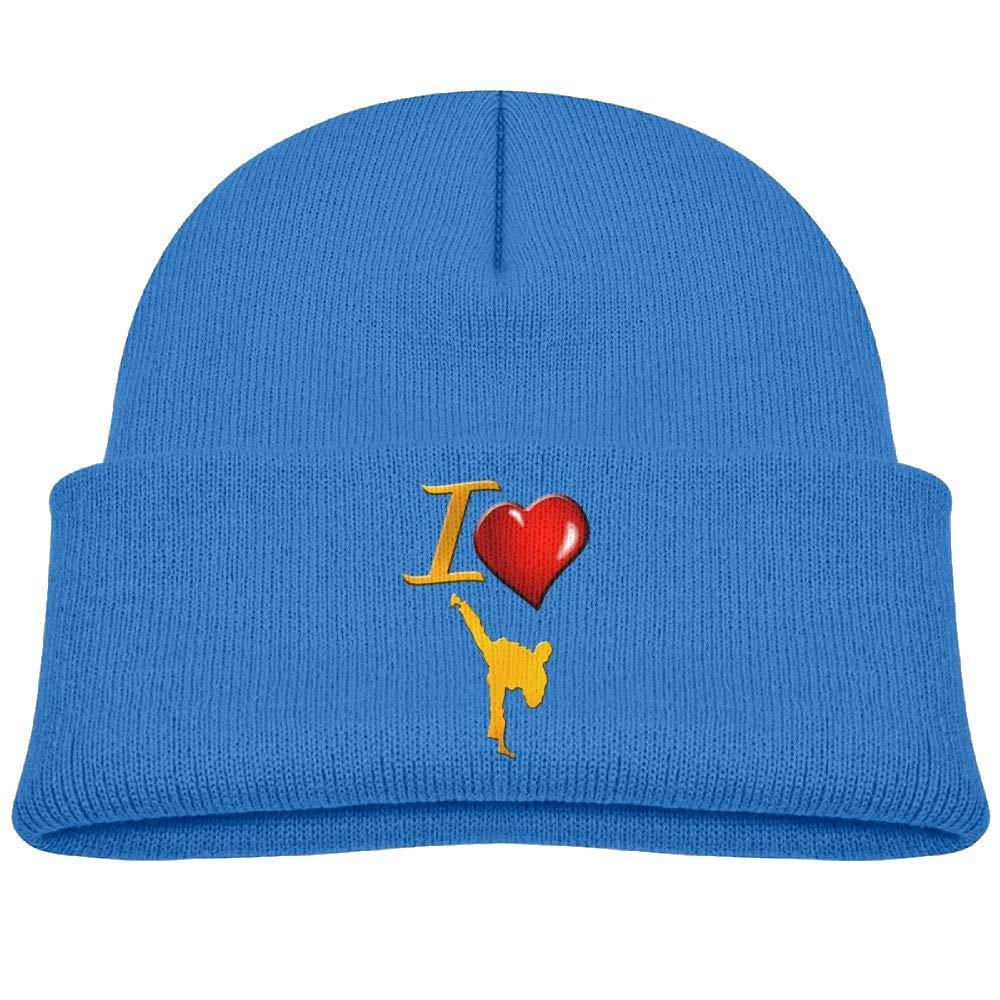 L Love Karate Wool Caps Fashion Boys 0-3 Old