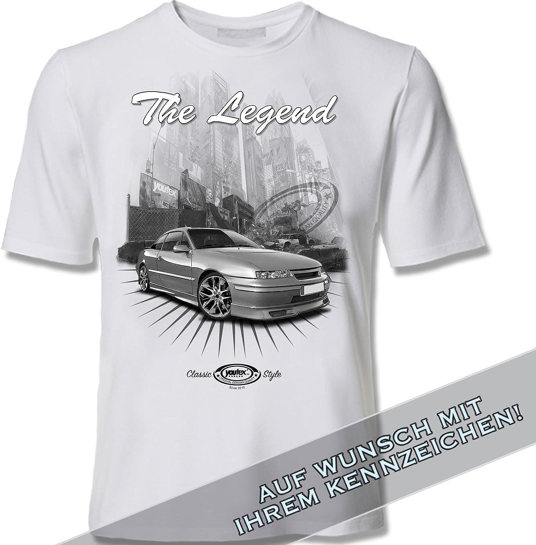 Youtex T Shirt Opel Calibra Black And White M Auto
