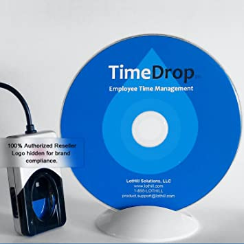 Employee Time Clock Software and Fingerprint Scanner, Time Attendance  Tracker, Unlimited User Profiles, No Monthly Fees, Incl  Support and  Updates,
