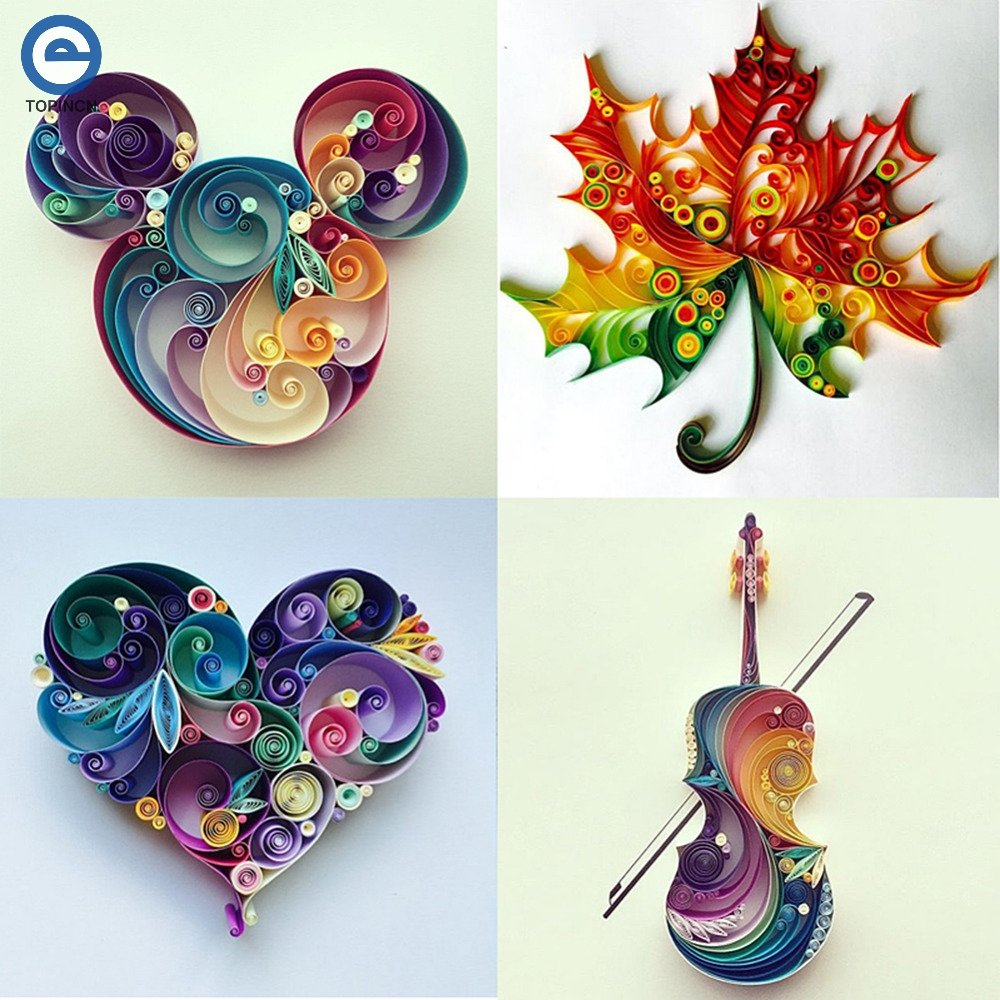 Lavenz 6 In 1 DIY Quilled Creation Paper Craft Paper Scrapbook Quilling Tools Set Crafts And Scrapbooking For Party Gift Decoration 201803-4053