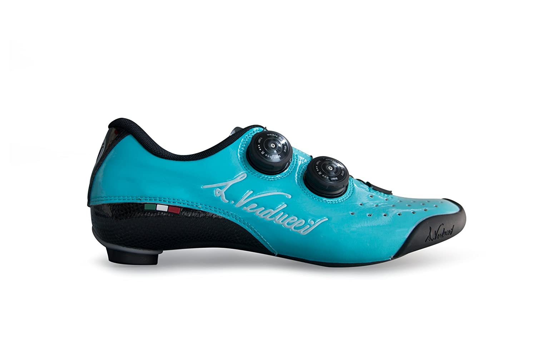 LUIGINO VERDUCCI VR-01 ロード クリップレス シューズ - シャイニー ブルー B07G1G31RP EU41