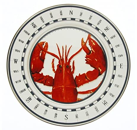 Clambake Plates Chargers for Lobster Dinner Lobster Design 12.5u0026quot; Diameter  sc 1 st  Amazon.com & Amazon.com | Clambake Plates Chargers for Lobster Dinner Lobster ...