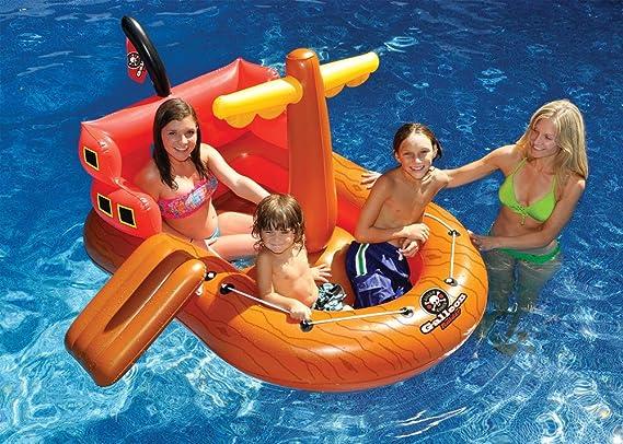 Amazon.com: Barco pirata piscina Flotador: Toys & Games