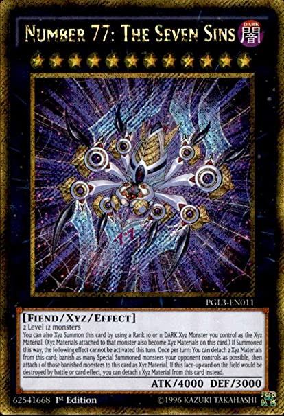 amazon com yu gi oh number 77 the seven sins pgl3 en011