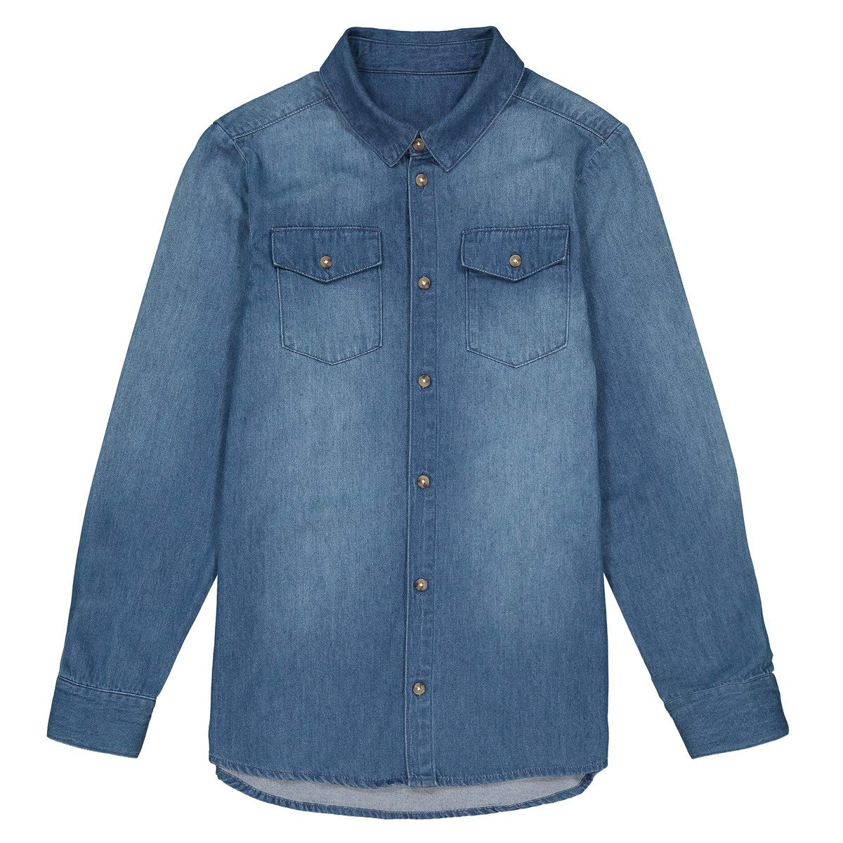 La Redoute Collections Cotton Denim Shirt, 10-16 Years Blue Size 16 Years (174 cm)