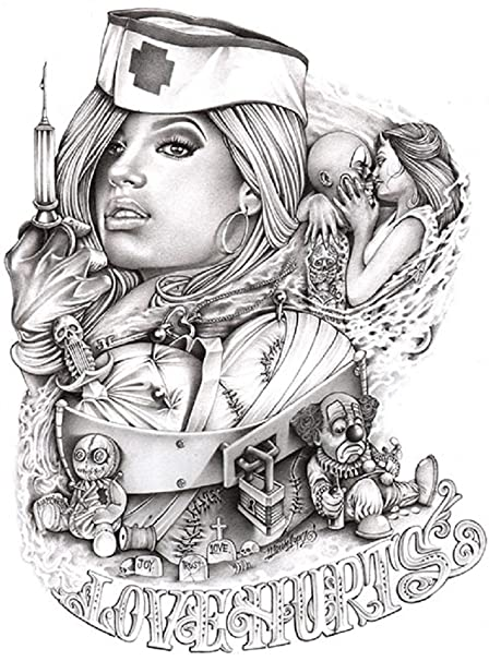 Sexy nurse tattoo