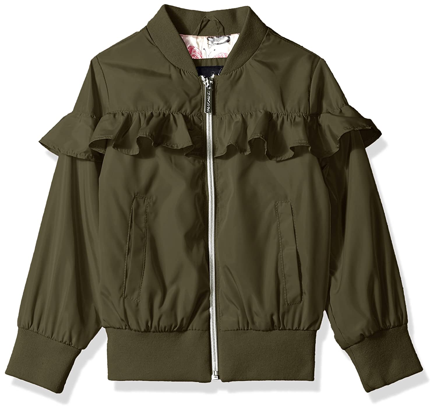 Limited Too Girls Nylon Bomber with Ruffle