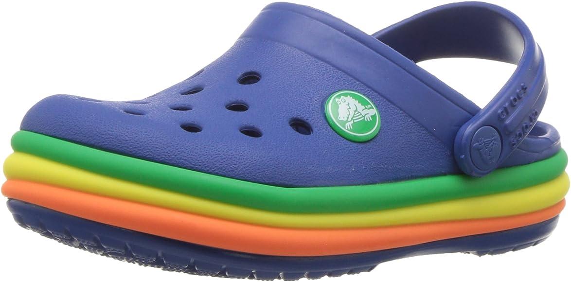 Crocs Girls' Crocband Rainbow Clogs