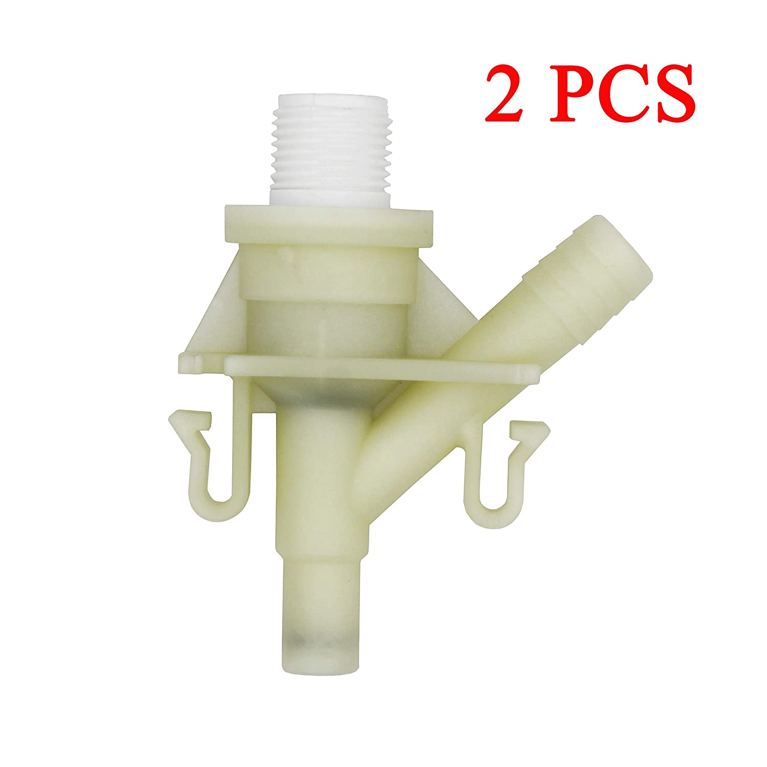 10 PCS for Sealand Marine Toilet Replacement iFJF New Durable Plastic Water Valve Kit 385311641 for 300 310 320 Series