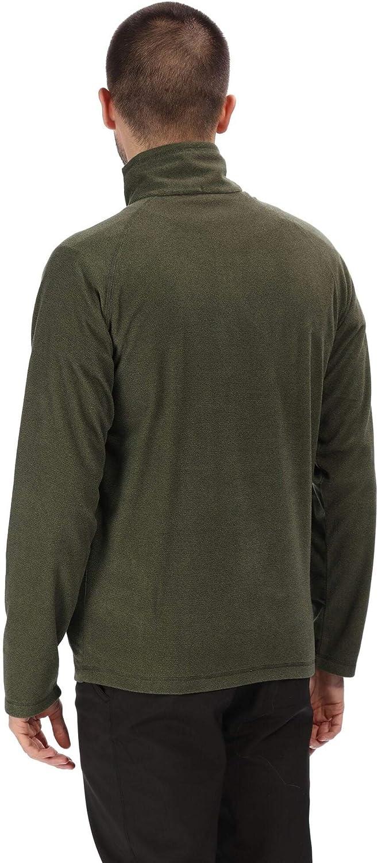 Regatta Men's Montes Lightweight Half Zip Overhead Micro Fleece Jacket Cypress Green
