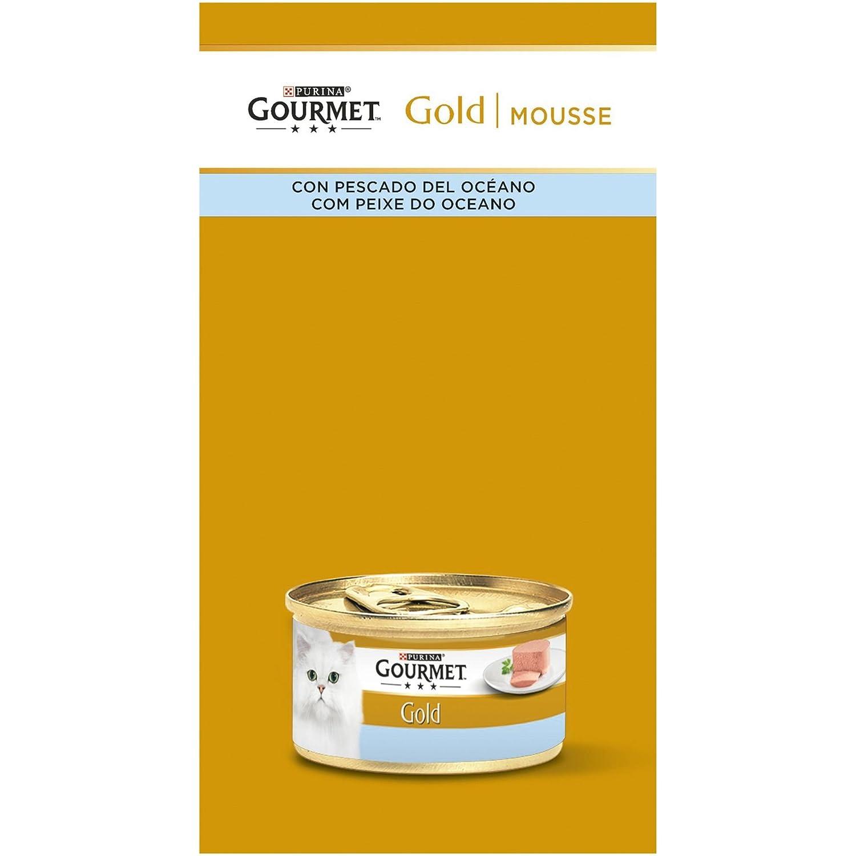 Purina Gourmet Gold Mousse comida para gatos de Pescado del Oceano 8 x [12 x 85 g]