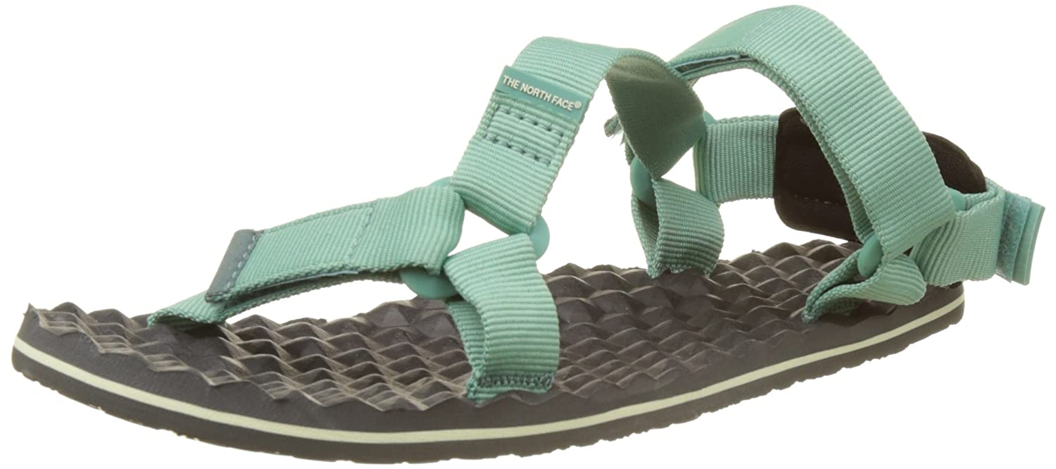 The North Face Women's Base Camp Switchback Sandal B01HHKATRO 9 B(M) US|Agate Green/Graphite Grey