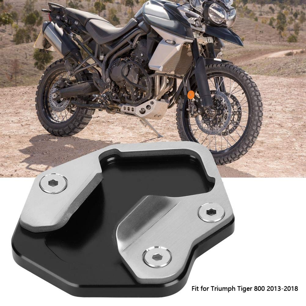 Fydun Cuscinetto di prolunga del cavalletto laterale Staffa laterale allargata di prolunga del cavalletto laterale in alluminio CNC per motocicletta Ingranditore adatto per Tiger 800 2013