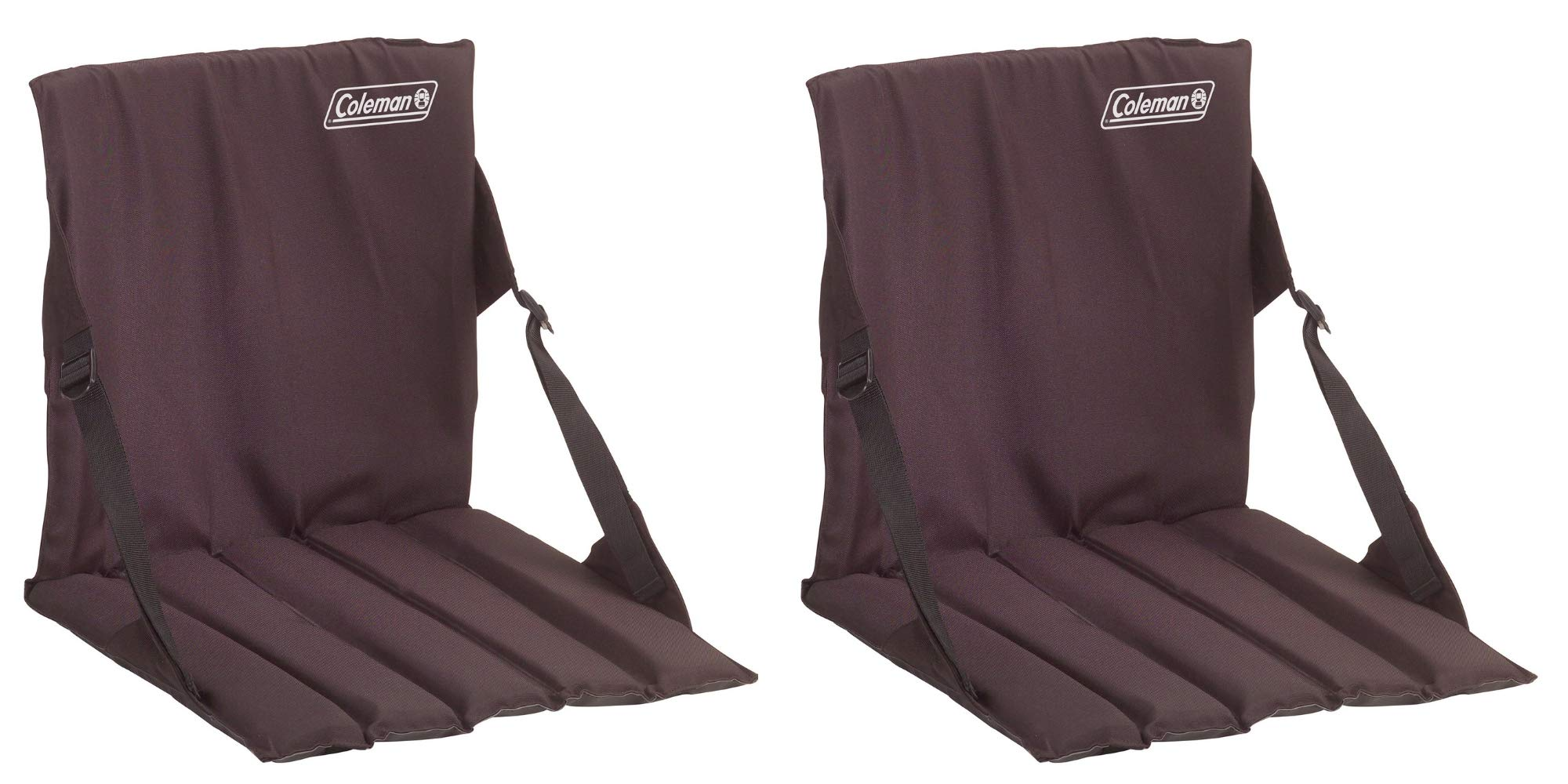 Coleman Stadium Seat, Black/Pack of 2 by Coleman