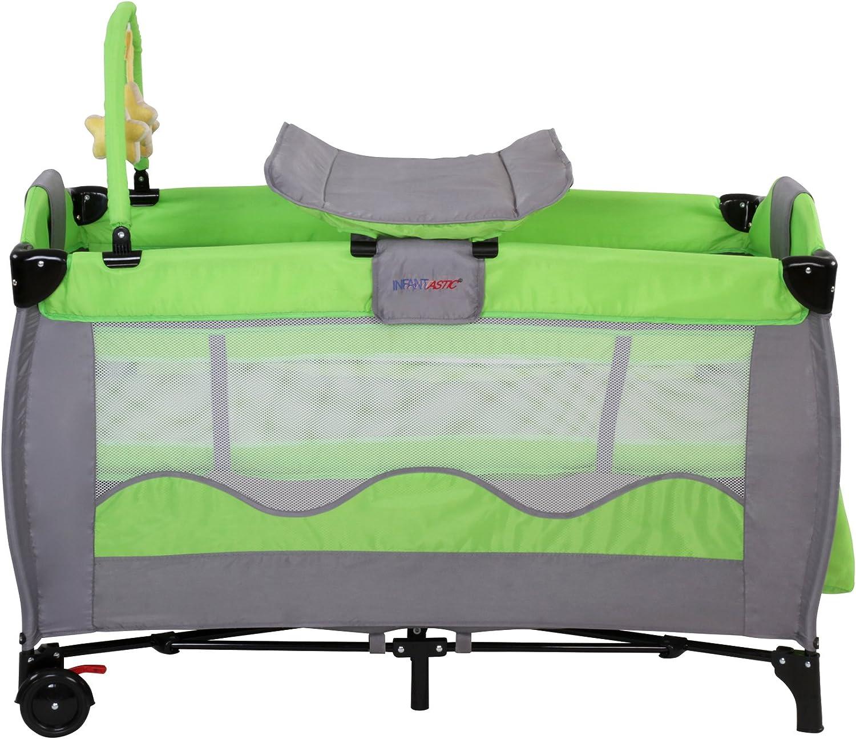 Infantastic krb02/verde cama de viaje para ni/ños color verde
