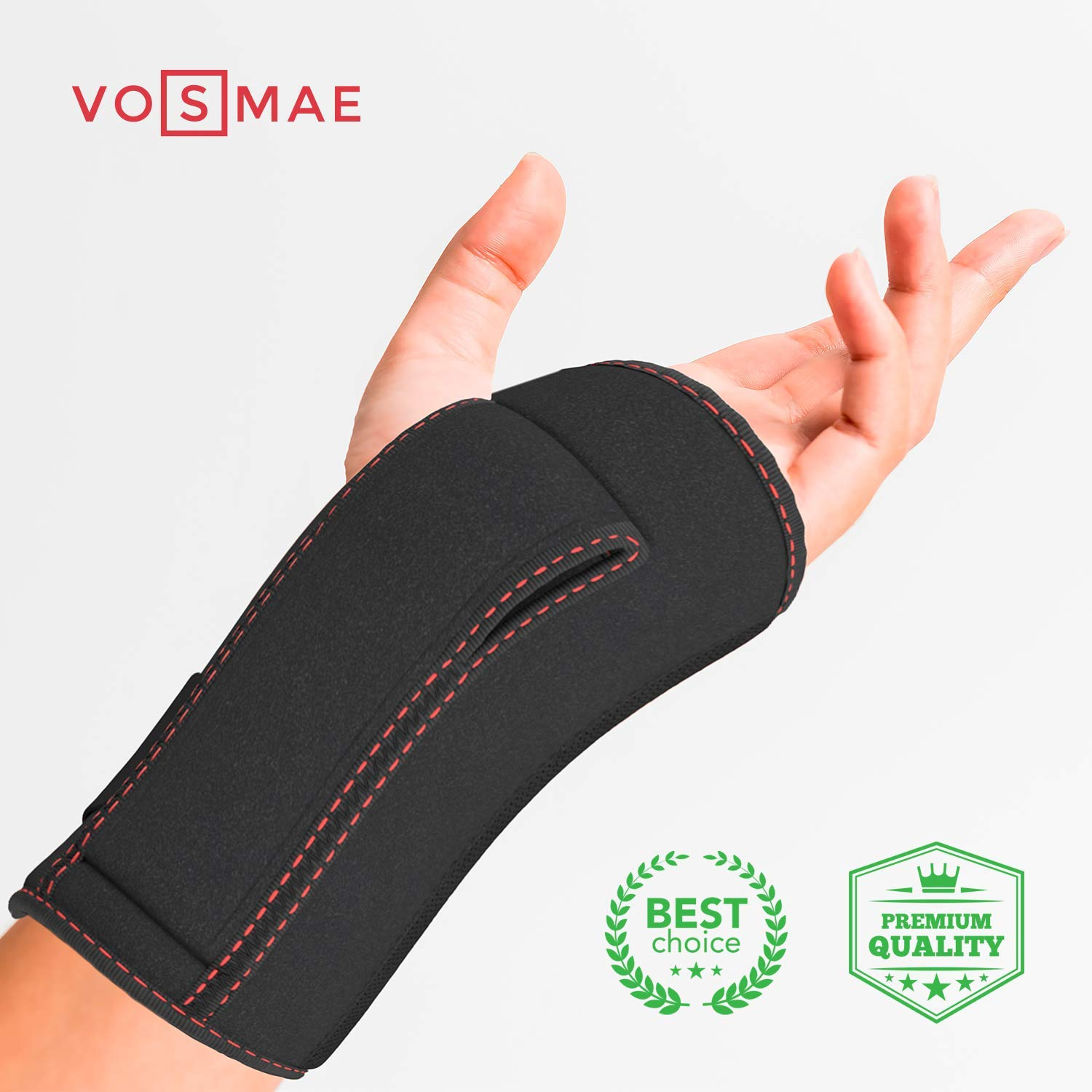 Night Wrist Sleep Support Brace - Fit for Left or Right Hand - Adjustable Wrist Support Brace with Splint & Gel Cushioned Pads - Carpal Tunnel Tendinitis Arthritis Wrist Pain Relief for Women and Men