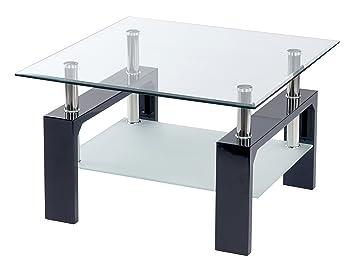 ts-ideen Design Wohnzimmer Couch Glastisch Glas Beistell-Tisch ...