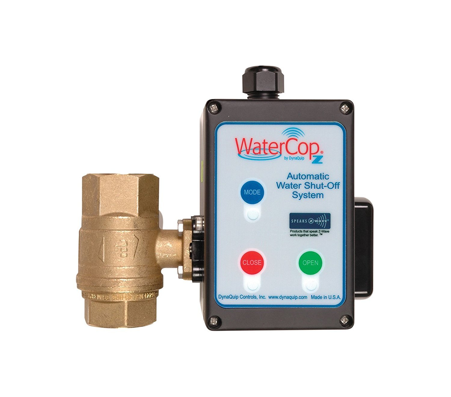WaterCop Z-Wave Shut-Off Valve Actuator and 1'' Valve Smart Leak Prevention Kit